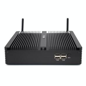 HYSTOU H5-I7-8550U Household Office Fanless Mini PC Intel Core i7-8550U Processor Quad Core up to 1.8GHz, RAM: 16G, ROM: 512G, Support Win 7 / 8 / 10 / Linux (Black)