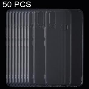 50 PCS 0.75mm Ultrathin Transparent TPU Soft Protective Case for Vivo Y17
