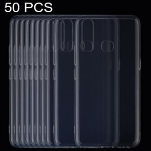 50 PCS 0.75mm Ultrathin Transparent TPU Soft Protective Case for Vivo Z5X