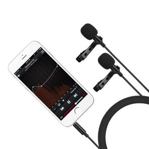 MC-LM300 Double Lavalier Recording Omnidirectional Microphone, Length: 4m