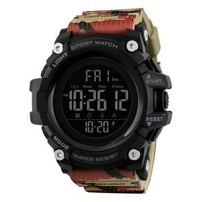 SKMEI 1384 Multifunctional Men Outdoor Fashion Noctilucent Waterproof LED Digital Watch(Camouflage)