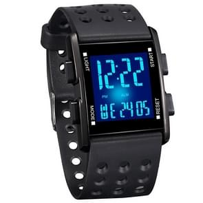 addies MY-0731 Colorful LED Digital Display Multi-function Sports Electronic Watch for Student (Black)