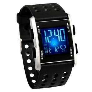 addies MY-0731 Kleurrijke LED Digitaal Display Multi-functie Sport Elektronisch Horloge voor Student(Zilver)