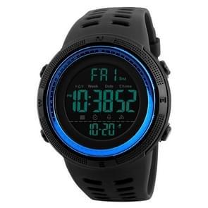 SKMEI sporthorloge 1251 mannen modieuze buiten 50m waterdicht digitaal horloge met PU Watchband(Blue)