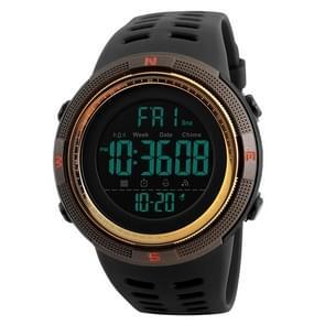 SKMEI sporthorloge 1251 mannen modieuze buiten 50m waterdicht digitaal horloge met PU Watchband(Coffee)