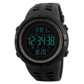 SKMEI sporthorloge 1251 mannen modieuze buiten 50m waterdicht digitaal horloge met PU Watchband(Grey)