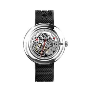 Originele Xiaomi Youpin TR90 T-serie mechanisch horloge 360 graden transparant skelet polshorloges voor mannelijke vrouw (zwart)