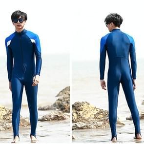Men One-piece Long Sleeve Snorkeling Wetsuit Sunscreen Full Body Swimwear Diving Suit, Size: L