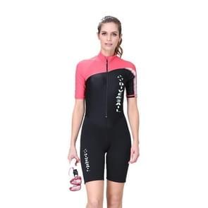 Women 1.5mm Neoprene Snorkeling Wetsuit Scuba Sunscreen Short Sleeve Short Diving Suit, Size: M