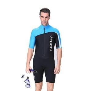 Men 1.5mm Neoprene Snorkeling Wetsuit Scuba Sunscreen Short Sleeve Short Diving Suit, Size: XL