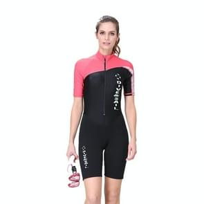 Women 1.5mm Neoprene Snorkeling Wetsuit Scuba Sunscreen Short Sleeve Short Diving Suit, Size: XS