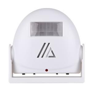 5301 draadloze infrarood bewegingssensor Welkom Alarm intelligente groet waarschuwing deurbel  IR afstand: 10m(White)