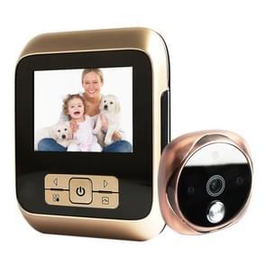 M530 3 0 inch TFT display 3.0 MP camera video digitale deur viewer  ondersteuning TF-kaart (32GB Max) & infrarood nachtzicht (brons)