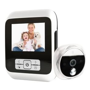 M530 3 0 inch TFT display 3.0 MP camera video digitale deur viewer  ondersteuning TF-kaart (32GB Max) & infrarood nachtzicht (wit)