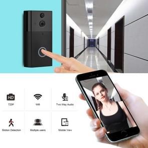 VESAFE VS-A5 HD 720P beveiligings camera Smart WiFi video deurbel intercom  ondersteuning TF-kaart & infrarood nachtzicht & bewegingsdetectie app voor IOS en Android (met ding dong/Chime) (zwart)
