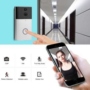 VESAFE VS-A4 HD 720P beveiligings camera Smart WiFi video deurbel intercom  ondersteuning TF-kaart & infrarood nachtzicht & bewegingsdetectie app voor IOS en Android (met ding dong/Chime) (zilver)