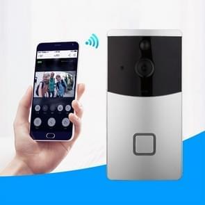 VESAFE Home VS-m2 HD 720P beveiligings camera Smart WiFi video deurbel intercom  ondersteuning TF Card & Night Vision & PIR detectie APP voor IOS en Android (zilver)