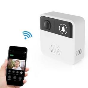 VESAFE Home VS-A10 HD 720P beveiligings camera Smart WiFi video muziek ring deurbel  ondersteuning TF Card & Night Vision voor IOS en Android (met ding dong/Chime) (wit)