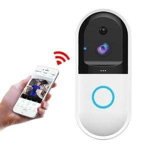 B50 720P Smart WiFi Video Visual Doorbell, Support Phone Remote Monitoring & Night Vision & SD Card (White)