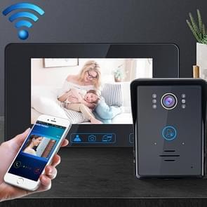 TS-WIFI708C 1 3 miljoen pixels Smart WiFi Video Intercom Deurbel met 7 inch Display & 16 Polyfone Ringtones  Ondersteuning Infrarood Nachtzicht