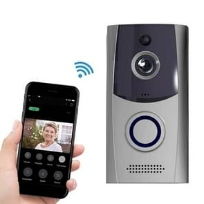 M11 720P Smart WIFI Ultra Low Power Video Visual Doorbell,Support Phone Remote Monitoring & Night Vision& IP53 Waterproof & SD Card (Grey)