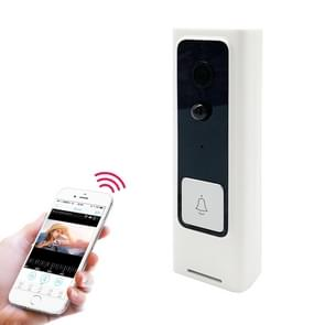 M200B WiFi Intelligent Square Button Video Doorbell, Support Infrared Motion Detection & Adaptive Rate & Two-way Intercom & Remote / PIR Wakeup(White)