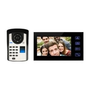 SYSD-806FD11 Regenbestendige zonnebrandcrème Smart video deurbel met 7 inch HD touch screen  ondersteuning infrarood nachtzicht & wachtwoord/vingerafdruk/afstandsbediening ontgrendelen & Voice intercom