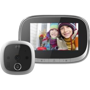 SF550 4 3 inch Scherm 1.0MP Security Digital Door Viewer met 12 Polyphonic Music  Support PIR Motion Detection & Infrared Night Vision & 145 Degrees Wide Angle & TF Card (Zwart)