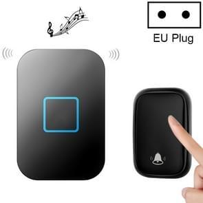 CACAZI FA88 zelfaangedreven Smart Home Draadloze deurbel  EU-stekker (zwart)