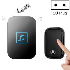 CACAZI FA86 zelfaangedreven Smart Home Draadloze deurbel  EU-stekker (zwart)