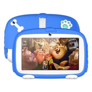 A718 Kids Education Tablet PC  7 0 inch  1GB+8GB  Android 6.0 Allwinner A33 Quad Core 1.3GHz  Support WiFi / TF Card / G-sensor  met Dog Silicon Pattern Case(Blue)