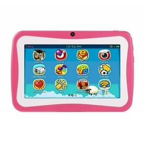 768 Kids Education Tablet PC  7 0 inch  1GB+8GB  Android 4.4 Allwinner A33 Quad Core Cortex A7  Support WiFi / TF Card / G-sensor  met Holder Silicon Case (Pink)