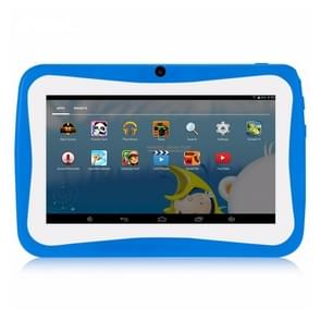 768 Kids Education Tablet PC, 7.0 inch, 1GB+16GB, Android 4.4 Allwinner A33 Quad Core Cortex A7, Support WiFi / TF Card / G-sensor, with Holder Silicone Case(Blue)