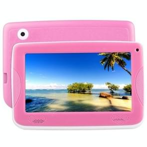 758 Kids Education Tablet PC met bracket  7 0 inch  512MB+8GB  Android 4.4 Allwinner A33 Cortex A7 Processor  Support WiFi / Micro SD Card / G-sensor(Pink)
