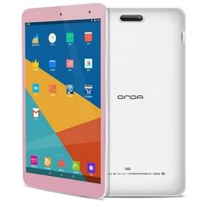 ONDA V80 Tablet Basic Edition, 8 inch, 2GB+16GB, CE Certificated, Android 7.0, Allwinner A64 Quad Core 1.3GHz, Support 128GB TF Card, WiFi, Bluetooth(Pink)