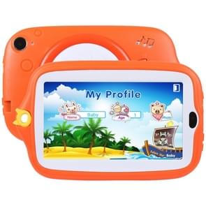 Kids Education Tablet PC, 7.0 inch, 512MB+8GB, Android 4.4 Allwinner A33 Quad Core, WiFi / Bluetooth, with Holder Silicone Case(Orange)