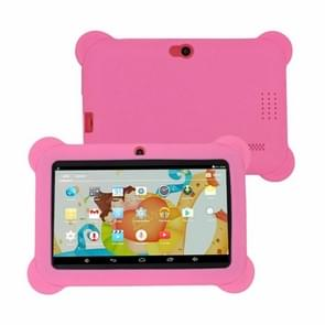 Q88 Kids Education Tablet PC  7.0 inch  512MB+8GB  Android 4.4 Allwinner A33 Quad Core  WiFi  Bluetooth  OTG  FM  Dual Camera  met siliconen behuizing (roze)