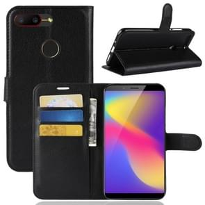 Litchi Texture Horizontal Flip Leather Case for ZTE Nubia V18 & N3 , with Wallet & Holder & Card Slots(Black)