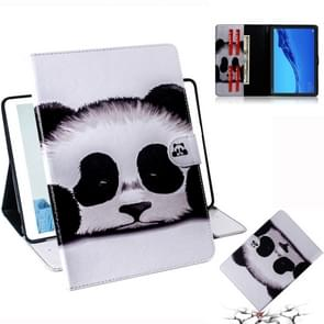 Panda Pattern Horizontal Flip Leather Case for Huawei MediaPad M5 Lite 10.1, with Holder & Card Slot & Wallet