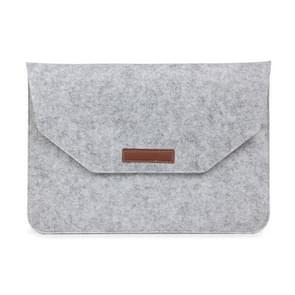 MacBook Air / Retina 13.3 inch Universele laptop tas van vilt met extra opbergruimte voor mobiele telefoon of mogelijke accessoires (grijs)