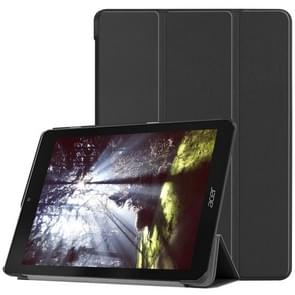 Custer Texture Horizontal Flip PU Leather Case for Acer Chromebook Tab 10, with Three-folding Holder(Black)