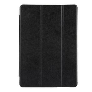 Voor Huawei MediaPad T3 10 9.6 inch Silk textuur horizontale Flip lederen draagtas met 3-vouwen Holder(Black)