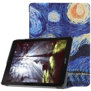 Starry Sky Pattern Horizontal Flip PU Leather Case for Acer Chromebook Tab 10, with Three-folding Holder