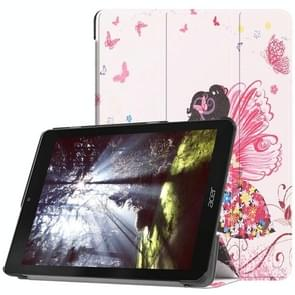 Butterfly Fairy Pattern Horizontal Flip PU Leather Case for Acer Chromebook Tab 10, with Three-folding Holder