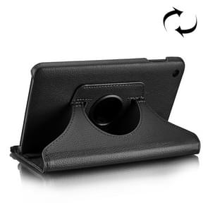 Litchi Texture Horizontal Flip 360 Degrees Rotation Leather Case for Xiaomi Mi Pad 4, with Holder (Black)
