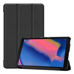 Custer textuur horizontale Flip lederen case voor Galaxy tab A 8 0 (2019) P205/P200  met drie-opvouwbare houder (zwart)