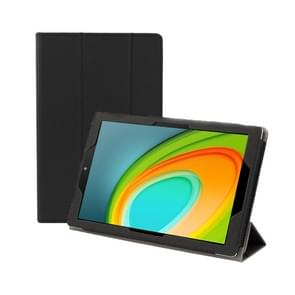 Anti-slip Texture Horizontal Flip Leather Case for CHUWI HI Pad 10.1 Inch with Three-folding Holder(Black)