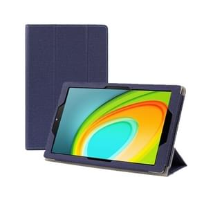 Anti-slip Texture Horizontal Flip Leather Case for CHUWI HI Pad 10.1 Inch with Three-folding Holder(Blue)