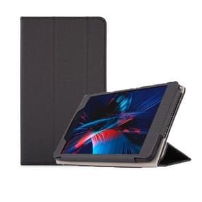 Anti-slip Texture Horizontal Flip Leather Case for Cube POWER M8, with Three-folding Holder (Black)