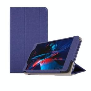 Anti-slip Texture Horizontal Flip Leather Case for Cube POWER M8, with Three-folding Holder (Blue)